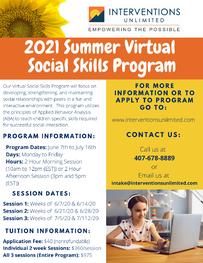 2020 Virtual Social Skills Summer Camp
